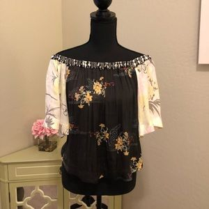 Free People Off The Shoulder Blouse NWT Sz S